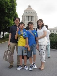 家族で記念撮影